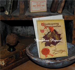 Thanksgiving Proclamation Greetings Card-