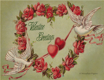 Red Rose Valentine Greetings - V66