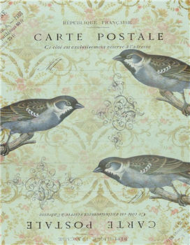 Carte Postale Triple Blue Birds - X106