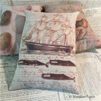 Whaling Ship Pillow - X288