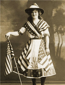 Patriotic Flag Girl - X40