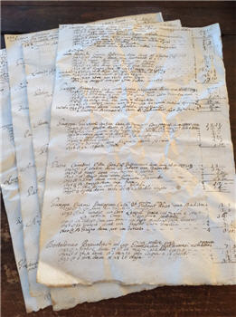 1790-1799 French Ledger Pages