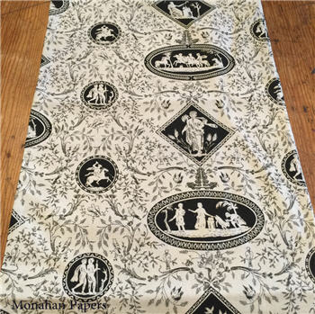 Black and White Toile Runner