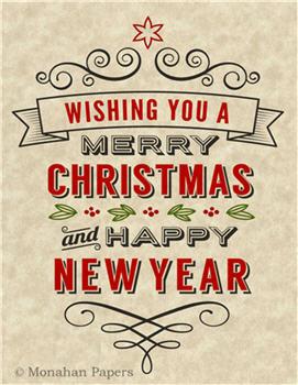 Wishing You A Merry Christmas - C295