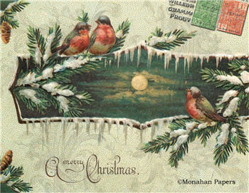 Moonlight Holiday Birds - C298