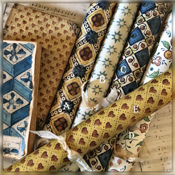 French and Italian Papier Dominote - Gift Wrap - Wallpaper - Wrapping Paper - Table Runner