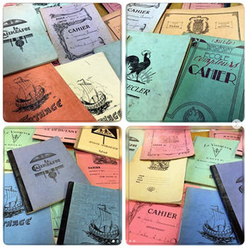 Antique French School Notebooks
