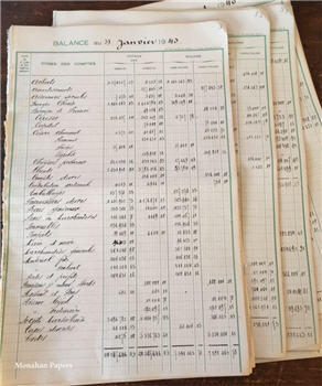 Large Vintage French Ledger Pages - Double Sided