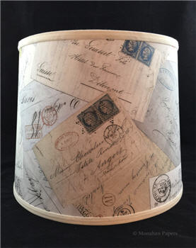 French Postcard Lamp Shade