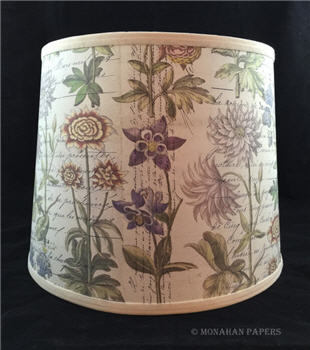 French Botanicals Drum Lamp Shade