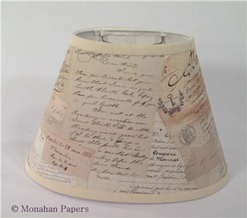 Medium Oval Documents Lamp Shade - LSMORaab