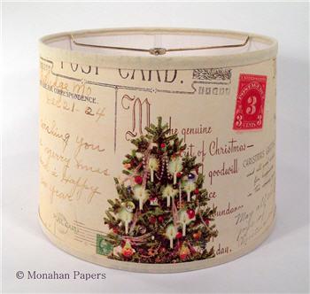 Holiday lamp shades christmas tree drum lamp shade lsxmastree aloadofball Choice Image