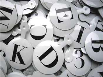 Letters & Numbers Tabs - Assorted - LNTAST