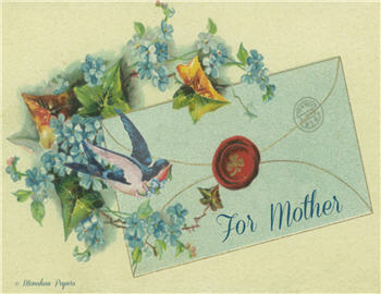 Blue Envelope with Bird - MD25