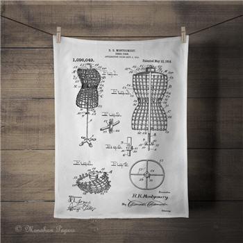 Patent Dress form Tea Towel - PAT802