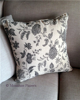 Black Floral Damask Pillow - PILBLKFloral