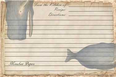 The Whale Recipe Cards
