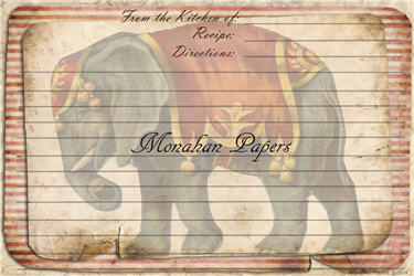 Circus Elephant Recipe Cards