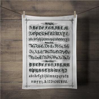 Old English Tea Towel - TTSPS137