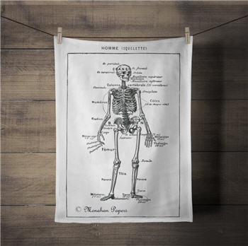 French Skeleton Tea Towel - SPS140TT