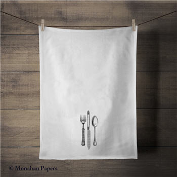 Knife, Fork & Spoon Tea Towel - SPS343TT