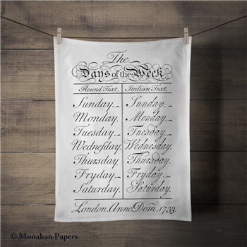 Days Of The Week Tea Towel - SPS687TT