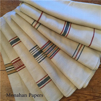 Striped French Grain Sack Fabric