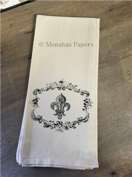 Fleur De Lis Tea Towel - SPS518TT