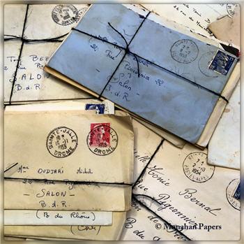Vintage Letter bundles - 5 pcs.