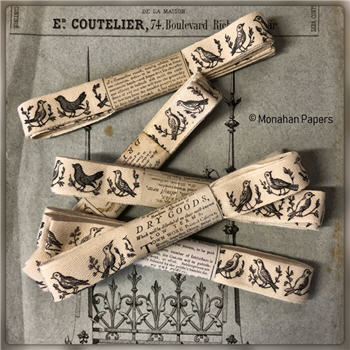 Woodcut Birds Ribbon - WCBIRRIB