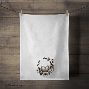 The Egg Wreath Tea Towel - ZBTT2