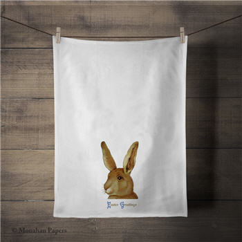 Easter Greetings Bunny Tea Towel - ZBTT3