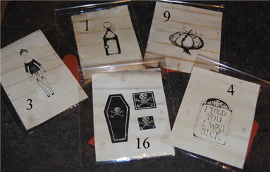 Halloween Rubber Stamps 3