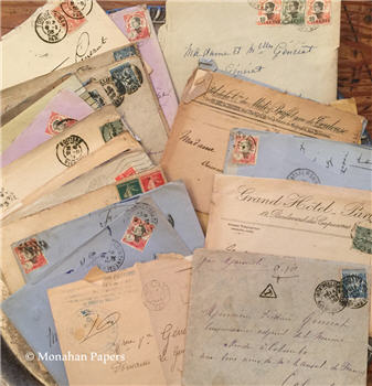 Assorted Hand Written French Letters