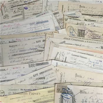 Assorted French Receipt Checks