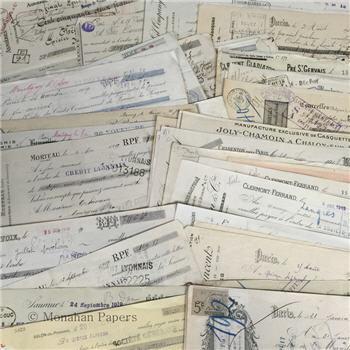 Assorted French Receipt Checks
