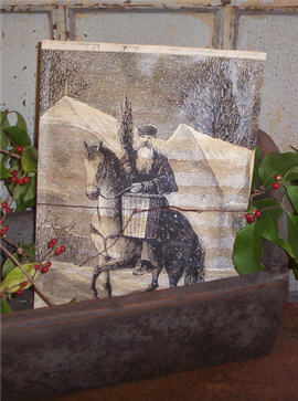 Belsnickle On A Horse  Potpourri Pouch
