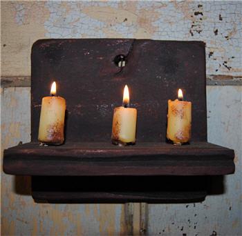 Black Chippy Hanging Candle Shelf