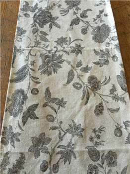 Black Floral Damask Runner - BLKFLRUN