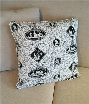 Black & White Toile Pillow - BWTOILEP