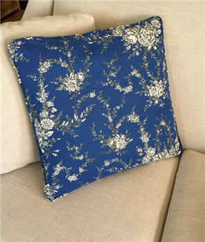 Blue Floral Pillow - BLUEFLPIL