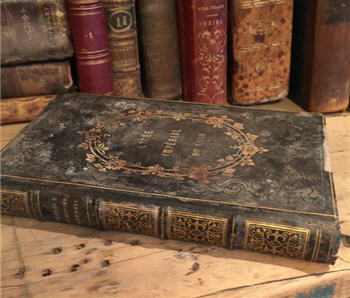 Antique French Book - Charles I ET Oliver Cromwell