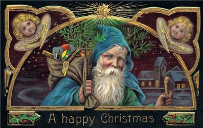 A Happy Christmas Santa & Angels - C185