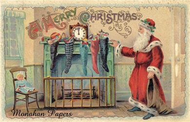 Santa Hangs The Stocking - C187