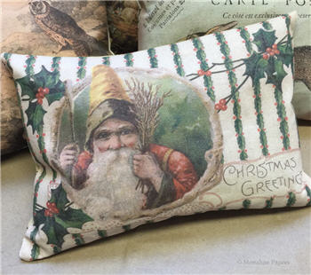 Christmas Greetings Claus Pillow - C225PIL