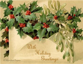With Holiday Greetings Ivy - C229