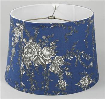 "Blue Floral Lamp Shade 11"" - BLUEFLLS"