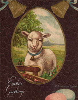 Easter Greetings Lambie - E102