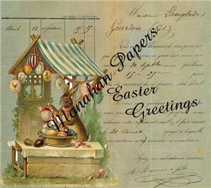 Easter Greetings Egg Tent Card - E34