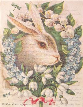 Floral Bunny Wreath - E92